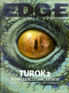 EDGE magazine TUROK 2 World Exclusive Review OCT 1998 - Billed as 'The Future of Interactive Entertainment' r1-21