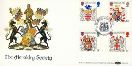 Heraldry Society College of Arms LONDON 1984 stamps cover Benham refE9 Cover in very good condition. Unsealed with insert. Please see larger photo and full description for details.