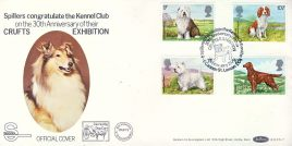 Dogs 1979 CRUFTS EXHIBITION Spillers Kennel Club official stamps cover Benham refE10 Cover in very good condition. Unsealed with insert. Please see larger photo and full description for details.