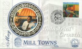 MILL TOWNS Workers Industrial Growth BLACKBURN 4th May 1999 LTD ED stamp cover refE70 Benham Millennium Collection Limited Edition Cover Silk Cache Picture / Stamp Cover in very good condition. Unsealed with blank insert. Reverse side has text information regarding cover topic.  Please see larger photo and full description for details.