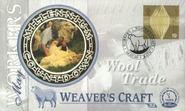 Sheep Shearing WOOL TRADE Weaver's Craft BATH 4th May 1999 LTD ED stamp cover refE71 Benham Millennium Collection Limited Edition Cover Silk Cache Picture / Stamp Cover in very good condition. Unsealed with blank insert. Reverse side has text information regarding cover topic.  Please see larger photo and full description for details.