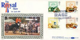 The Royal Show 1989 RASE Royal Agricultural Society of England Stoneleigh special handstamp food and farming year stamps cover Benham refE14 Cover in very good condition. Unsealed with insert. Please see larger photo and full description for details.