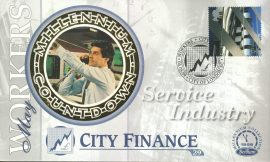 Service Industry Stock Market CITY FINANCE workers City of London EC 4th May 1999 LTD ED stamp cover refE73 Benham Millennium Collection Limited Edition Cover Silk Cache Picture / Stamp Cover in very good condition. Unsealed with blank insert. Reverse side has text information regarding cover topic.  Please see larger photo and full description for details.