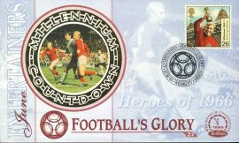 Heroes of 1966 FOOTBALL'S GLORY Wembley 1st June 1999 Entertainers LTD ED stamp cover refE75 Benham Millennium Collection Limited Edition Cover Silk Cache Picture / Stamp Cover in very good condition. Unsealed with blank insert. Reverse side has text information regarding cover topic.  Please see larger photo and full description for details.