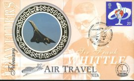 AIR TRAVEL Condorde HEATHROW  Sir Frank Whittle 2nd Feb 1999 LTD ED stamp cover refE59  Travellers Benham Millennium Collection Limited Edition Cover Silk Cache Picture / Stamp Cover in very good condition. Unsealed with blank insert. Reverse side has text information regarding cover topic.  Please see larger photo and full description for details.