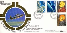 Whittle's Jet Engine The Gloster E28/39 RAF Cranwell BFPO 2259 stamps cover Benham Silk refE2 Cover in very good condition. Unsealed with insert. Please see larger photo and full description for details.