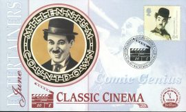 CHARLIE CHAPLIN Comic Genius ENTERTAINERS CLASSIC CINEMA Walworth London SE17 1st June 1999 LTD ED stamp cover refE77 Benham Millennium Collection Limited Edition Cover Silk Cache Picture / Stamp Cover in very good condition. Unsealed with blank insert. Reverse side has text information regarding cover topic.  Please see larger photo and full description for details.
