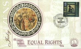 Suffragettes VOTES FOR WOMEN Equal Rights MANCHESTER Citizens 6th July 1999 LTD ED stamp cover refE78 Benham Millennium Collection Limited Edition Cover Silk Cache Picture / Stamp Cover in very good condition. Unsealed with blank insert. Reverse side has text information regarding cover topic.  Please see larger photo and full description for details.