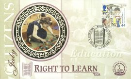 Citizens RIGHT TO LEARN Education LANARK 6th July 1999 LTD ED stamp cover refE81 Benham Millennium Collection Limited Edition Cover Silk Cache Picture / Stamp Cover in very good condition. Unsealed with blank insert. Reverse side has text information regarding cover topic.  Please see larger photo and full description for details.