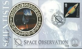 SPACE OBSERVATION Scientists SIR ISAAC NEWTON Grantham 3rd Aug 1999 LTD ED stamp cover refE88 Benham Millennium Collection Limited Edition Cover Silk Cache Picture / Stamp Cover in very good condition. Unsealed with blank insert. Reverse side has text information regarding cover topic.  Please see larger photo and full description for details.