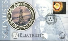 ELECTRICITY Scientists MICHAEL FARADAY Newington London SE1 3rd Aug 1999 LTD ED stamp cover refE87 Benham Millennium Collection Limited Edition Cover Silk Cache Picture / Stamp Cover in very good condition. Unsealed with blank insert. Reverse side has text information regarding cover topic.  Please see larger photo and full description for details.