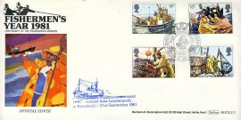 Centenary of the Fishermen's Mission 1981 Official LOSSIEMOUTH to PETERHEAD cover Fishing boats and trawlers stamps cover Benham refE38 Cover in very good condition. Unsealed with insert. Please see larger photo and full description for details.