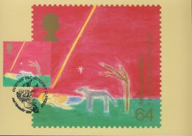 First Christmas BETHLEHEM Christians Tale Postcard special hand stamp postmark 1999 refE97 Special Hand Stamped Postcard in Very Good Condition - address label on reverse.