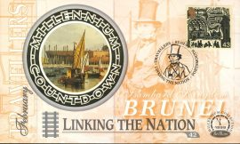 Isambard Kingdom Brunel PORTSMOUTH Linking the Nation 2nd Feb 1999 LTD ED stamp cover refE61 Benham Millennium Collection Limited Edition Cover Silk Cache Picture / Stamp Cover in very good condition. Unsealed with blank insert. Reverse side has text information regarding cover topic.  Please see larger photo and full description for details.