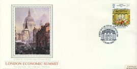 Sotheby's LUDGATE EVENING John O'Connor RHA London Economic Summit 1984 stamp cover PPS refE39 Cover in very good condition. Unsealed with insert. Please see larger photo and full description for details.