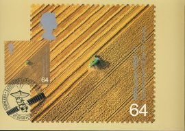 CROPS Farmers Satellite Agriculture Postcard CIRENCESTER special hand stamp postmark 1999 refE105 Special Hand Stamped Postcard in Very Good Condition - address label on reverse.