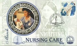 PATIENTS Florence Nightingale NURSING CARE London W1 2nd March 1999 LTD ED stamp cover refE62 Benham Millennium Collection Limited Edition Cover Silk Cache Picture / Stamp Cover in very good condition. Unsealed with blank insert. Reverse side has text information regarding cover topic.  Please see larger photo and full description for details.