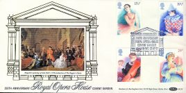Covent Garden Royal Opera House 250th Anniversary 1982 stamps cover Benham Silk refE5 Cover in very good condition. Unsealed with insert. Please see larger photo and full description for details.