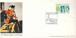 TIM GRAHAM Her Majesty the Queen 60th Birthday Greetings special handstamp Bradbury LFDC No.49 stamp cover refE1 Cover in very good condition. Unsealed no insert. Please see larger photo and full description for details.