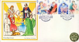 Royal Shakespeare Theatre Stratford-upon-Avon 1982 special handstamp & gold coloured seal stamps cover refE53 Cover in very good condition. Unsealed with insert. Please see larger photo and full description for details.