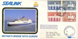 M.V. Horsa SEALINK Britain's Bridge with Europe PAQUBOT Posted at Sea stamps cover Benham Silk refE6 Cover in very good condition. Unsealed with insert. Please see larger photo and full description for details.