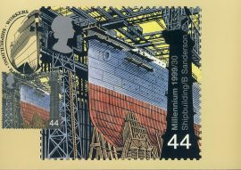 SHIPBUILDING Barrow-in-Furness Postcard WORKERS special hand stamp postmark refE121 Special Hand Stamped Postcard in Very Good Condition - address label on reverse.