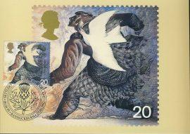 SCOTLAND Bannockburn Postcard MIGRATION Settlers special hand stamp postmark STIRLING refE123 Special Hand Stamped Postcard in Very Good Condition - address label on reverse.