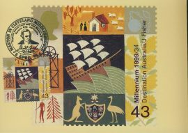 MARTON-IN-CLEVELAND Middlesbrough Capt. James Cook Botany Bay Postcard special hand stamp postmark refE125 Special Hand Stamped Postcard in Very Good Condition - address label on reverse.