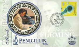 PATIENTS Sir Alexander Fleming Penicilling LOCHFIELD DARVEL 2nd March 1999 LTD ED stamp cover refE64 Benham Millennium Collection Limited Edition Cover Silk Cache Picture / Stamp Cover in very good condition. Unsealed with blank insert. Reverse side has text information regarding cover topic.  Please see larger photo and full description for details.