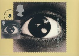 TOBI CORNEY Year of the Artist Postcard special hand stamp postmark SHEFFIELD Dec 2000 refE140 Special Hand Stamped Postcard in Very Good Condition - address label on reverse.