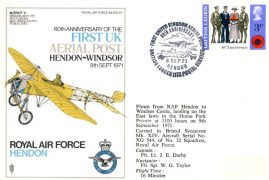 1971 First UK Aerial Post Hendon-Windsor Castle flown stamp cover 60th Anniversary refE145 Cover & Stamp in very good condition. Unsealed - no insert. Address label mark. Please see larger photo and full description for details.