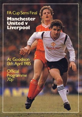 Manchester Utd v Liverpool at Goodison 13th April 1985 Official Programme refD102037 Vintage programme as listed and shown in the photo. Please see large photo and read full description for condition report.