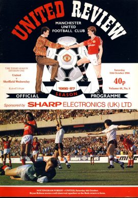 Manchester Utd v Sheffield Wednesday 11th Oct 1986 Official Programme refE102055 United Review Vintage programme as listed and shown in the photo. Please see large photo and read full description for condition report.