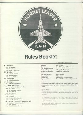 Hornet Leader Game Rules Booklet 1991 20 pages ref1000010 Pre-owned in very good condition with a few pen marks. RULES ONLY no game parts or boards