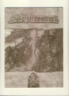 Kevin Wilson's ARENA MAXIMUS Fantasy Flight game rules (32 page booklet) in English