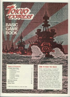 Tokyo Express Basic Game Book Game Rules 24 pages ref1000131 Ideal for additional / replacement in exisiting board game. RULES ONLY no game parts or boards