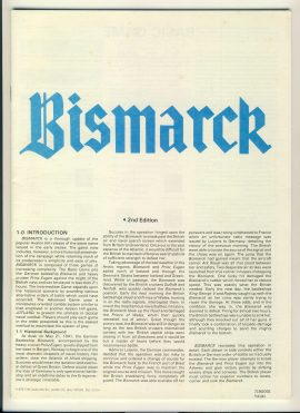 BISMARCK 2nd edition game rules 36 pages ref100087 Ideal for additional / replacement in exisiting board game. RULES ONLY no game parts or boards
