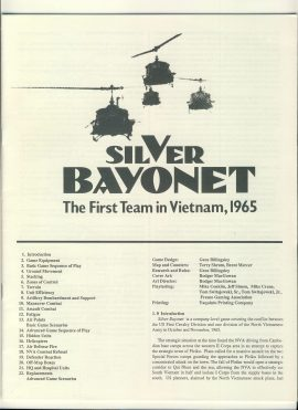 Silver Bayonet First Team in Vietnam 1965 game booklet 20 pages ref100097 Ideal for additional / replacement in exisiting board game. RULES ONLY no game parts or boards