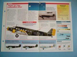 German Aircraft of World War II Card 26 Junkers Ju 523M Tante Ju