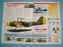 German Aircraft of World War II Card 42 Heinkel Air sea rescue Battle of Britain