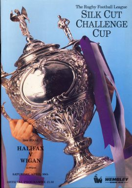1988 Silk Cut Challeng Cup final Wembley Official Programme in good used condition. Please read full description. . Ref88