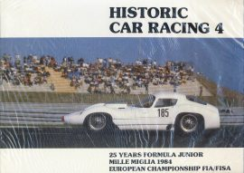 Historic Car Racing 4 25 Years Formula Junio Mille Miglia 1984 European Championship FIA/FISA Hardback Book VGC Sealed ref099 Please read full description.
