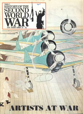 Purnell's  History of the Second World War no.124 Artists at War ref150 Magazine in very good read condition.