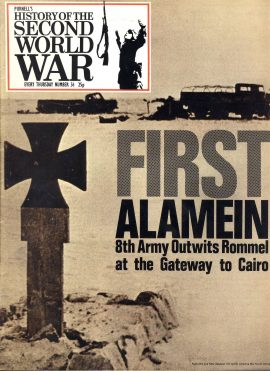 Purnell's History of the Second World War no.36 First Alamein 8th Army Outwits Rommel ref141  Magazine in very good read condition.