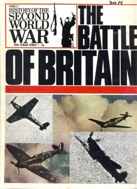 Purnell's History of the Second World War no.9 The Battle of Britain ref145 Magazine in very good read condition.