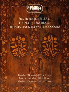 Phillips Auction Catalogue 1991 Silver Jewellery Furniture Rugs Oil Paintings Watercolours ref101001 S9 This is a pre-owned product in good condition. Notes to some pages. Good reference source. Please see full description and photo.