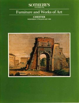 SOTHEBY'S Chester January 1990 Auction Catalogue Furniture Works of Art ref101006 S9 This is a pre-owned product in good condition. Good reference source - written price notes throughout. Please see full description and photo.