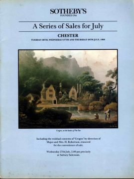 SOTHEBY'S Chester 1988 Series of Sales for July auction catalogue ref101007 S9 This is a pre-owned product in good condition. Please see full description and photo.