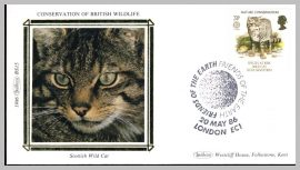 1986 BS15 Scottish Wild Cat Friends of the Earth Ltd Edition small silk cover refF8 Cover in very good condition. Please see larger photo for details.