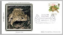 1986 BS16 Natterjack Toad Lady's Slipper Orchid GRASSINGTON Skipton Ltd Edition small silk cover refF9 Cover in very good condition. Please see larger photo for details.